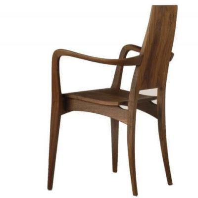 Massivholzstuhl Julia 1 mit Holzsitz und Armlehnen