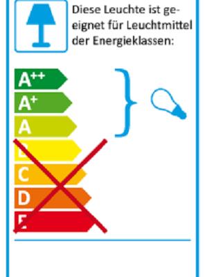 Eu-Energielabel-Pendelleuchte Nux