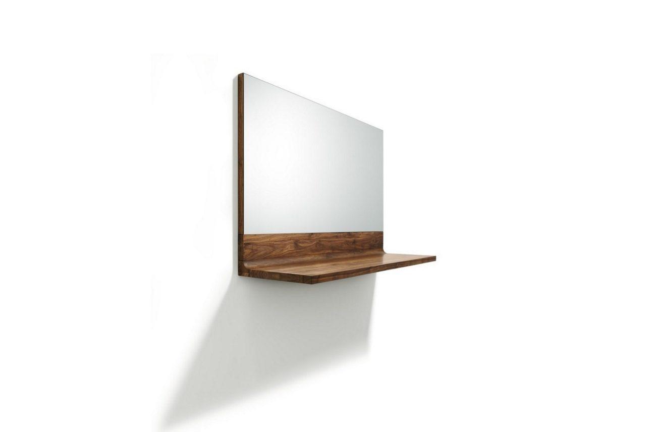 Spiegel riletto mit Konsole in Nussbaumholz