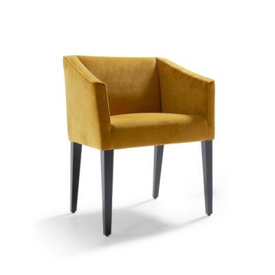 Sessel SMILLA gibt es auch als Stuhl, dann ohne Armlehnen.